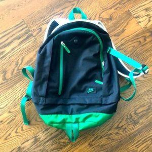 Nike green black white backpack